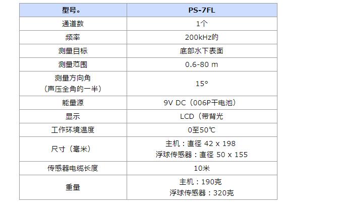 PS-7 PS-7FL便携式手持深度测深仪6技术参数(浮球).png